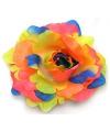 Neon gekleurde haarbloemen