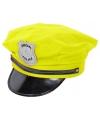 Neon gele politiepet