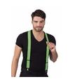 Neon groene bretels voor volwassenen