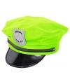 Neon groene politiepet