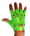 Neon groene punk handschoenen