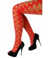 Neon rode panty met gaten