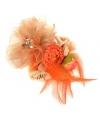 Oranje accessoire met bloemen