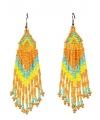 Oranje kralen oorbellen