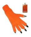 Oranje vingerloze handschoenen