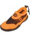 Oranje waterschoenen met trekkoord