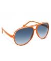 Oranje zonnebril met trendy montuur