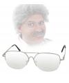 Ouderwetse nerd bril van metaal