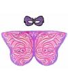 Paars roze fantasievlinder verkleedset voor meisjes
