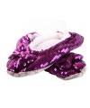 Paarse bling pantoffels voor dames