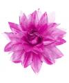 Paarse haarbloem met glitters