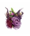 Paarse haarbloemen met klem