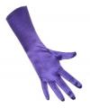 Paarse handschoenen halflang