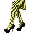 Panty gestreept geel met zwart