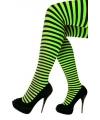 Panty gestreept groen met zwart