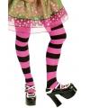 Panty roze en zwart gestreept