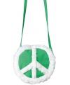 Peace tasje groen