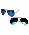 Pilotenbril met blauwe spiegel glazen model 5729