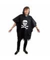 Piraten regenponcho voor volwassenen