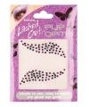 Plak diamantjes paars zwart voor gezicht