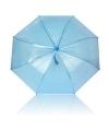 Plastic blauwe paraplu