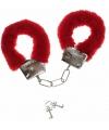 Pluche handboeien rood