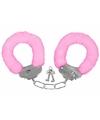 Pluche handboeien roze voor volwassenen