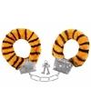 Pluche handboeien tijger voor volwassenen