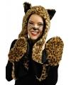 Pluche luipaard verkleed set