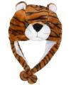 Pluche tijger muts voor kinderen