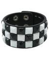 Punk armband zwart wit