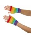 Regenboog handschoenen vingerloos