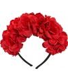 Rode bloemen diadeem
