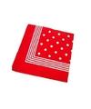 Rode boeren zakdoek met stippen