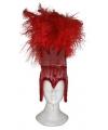 Rode braziliaanse hoofdtooi voor dames