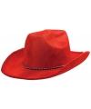 Rode cowboyhoed voor volwassenen