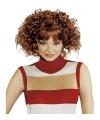 Rode dames pruik met kort haar en krullen