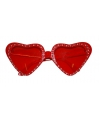 Rode hartjes zonnebril 14 x 5 cm