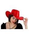 Rode western hoed met pailletten