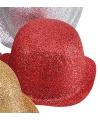 Rood bolhoedje met glitters