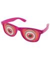 Roze bril met hartjes ogen