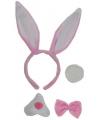 Roze bunny setje 4 delig