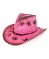 Roze ibiza hoed