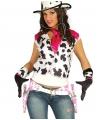 Roze koeienprint cowboy holsters met riem