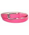 Roze lederlook riem 105 cm
