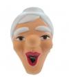 Sarah masker lachend