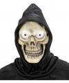 Schedel masker met capuchon voor volwassenen