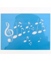 Schmink sjabloon muzieknoten