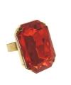 Sinterklaas ring rechthoekig met rode steen