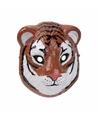 Tijger masker 3d plastic 22cm